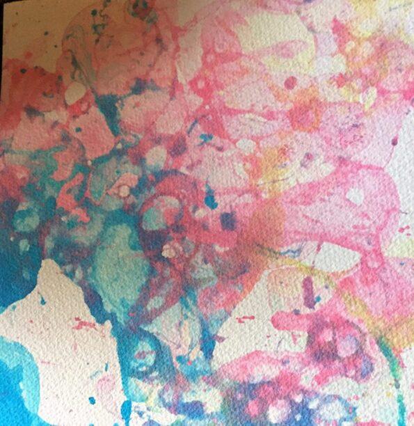 Bubble print in pastel colors. Copyright Andrea LeDew.