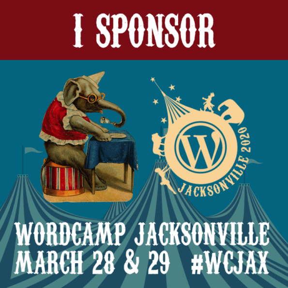 Sponsor badge for WordCampJax 2020
