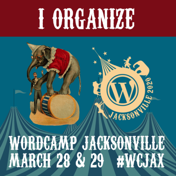 Organizer Button WordCampJax 2020