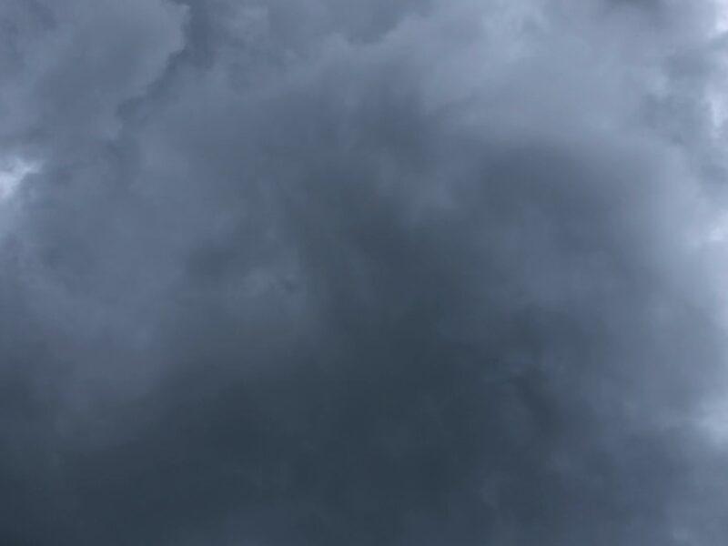 Dark gray foreboding storm clouds. Copyright Andrea LeDew.