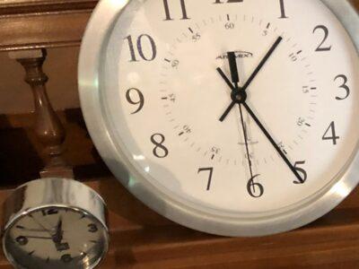 Large clock, little clock. Copyright Andrea LeDew.