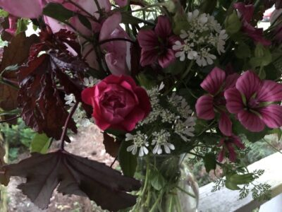 Closeup of a bouquet by my daughter Madelaine LeDew, Copyright Andrea LeDew