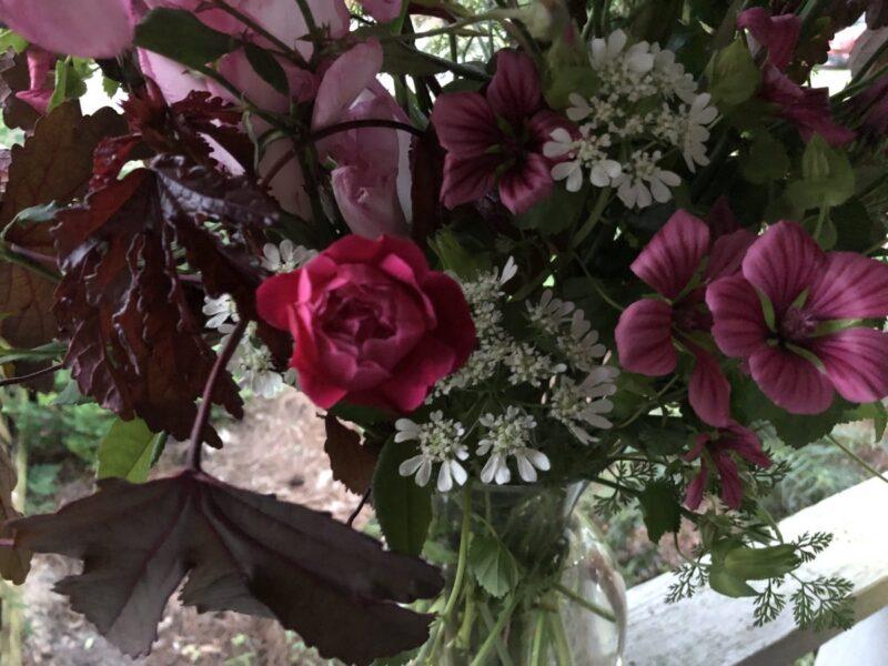 Closeup of a bouquet by Madelaine LeDew, Copyright Andrea LeDew