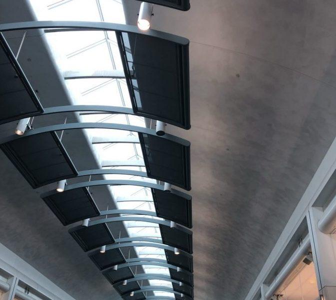 Detroit airport interior ceiling. Copyright Andrea LeDew.